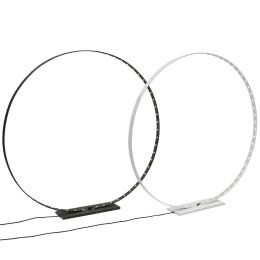 Circle L Led Lamp van Silhouet Lighting 65 cm ø zwart of wit staal