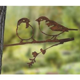 Metalbird Merel metalen vogel als tuindecoratie