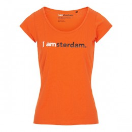 I amsterdam Ladies Classic T-shirt, oranje