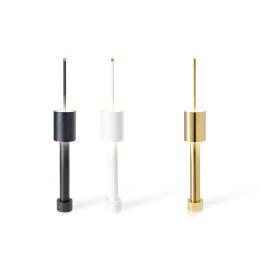 Dutch Design lampen Table Tower in de kleur goud voor op tafel, kast of kantoor