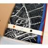 Stads sjaal Barentsz Urban Fabric stadskaart in een mooie geschenkverpakking