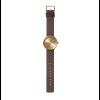 Cadeautip: Tube D38 messing horloge met bruin leren band van Dutch designer Piet Hein Eek