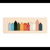 Cre8 Grachtenpanden wanddecoratie met 11 verschillende kleuren plexiglas
