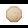 Achthoekige houten broodplank met gefreesd motief