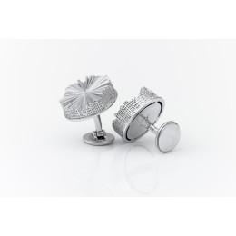 Manschettenknöpfe Amsterdamer Grachten von Studio Seroj de Graaf in Sterling Silber