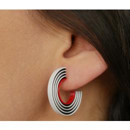 Tracks Ohrringe in 3 Farben von Turina Schmuck