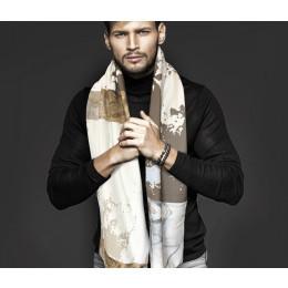 Winter Strick Schal aus Öko Baumwolle, Design von Hendrik'
