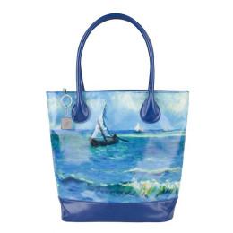 Tasche mit einem Print von das weltberümthe Malerei 'Seascape' von Van Gogh