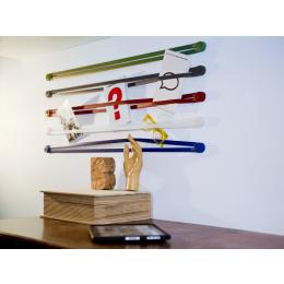 Droog Design Strap Aufhängesystem und Wandregal aus Silikon elastisch
