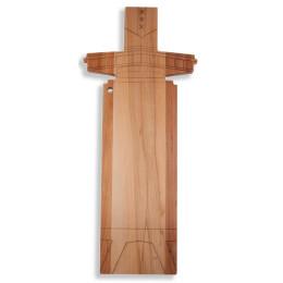 De houten A'DAM Toren-serveerplank van I amsterdam