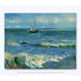 Vincent Van Gogh Seelandschaft auf Leinwand 29x37cm am shop.holland.com - die Webseite für Dutch Design Geschenken und Souvenirs